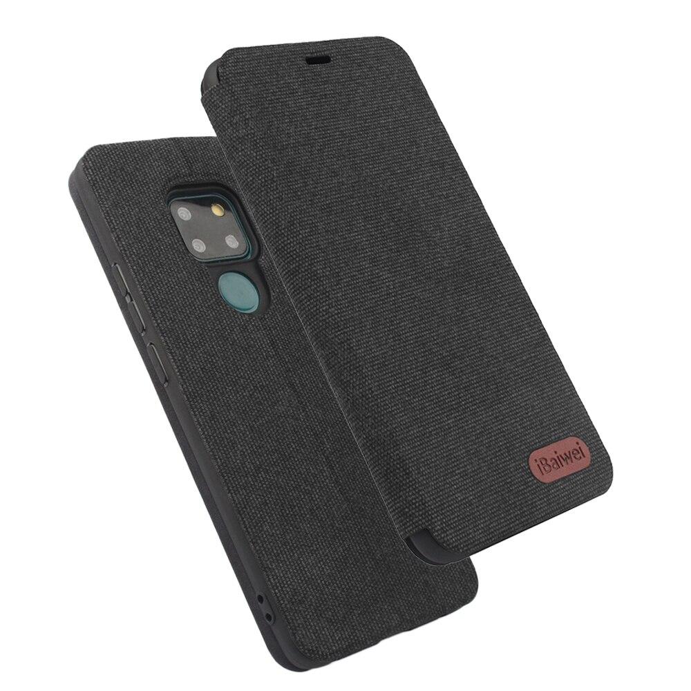 Textura de la tela Flip caso de Huawei P30 10 Pro Plus Nova 2 2S lite más Y6 2019 Honor 20 8X 9 9i V10 8A cubierta Mate 20 9 10 Pro