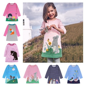 Girls clothes cotton dresses for girls 2020 autumn winter girls dress princess costume kids clothes 2 3 4 5 6 7 years old