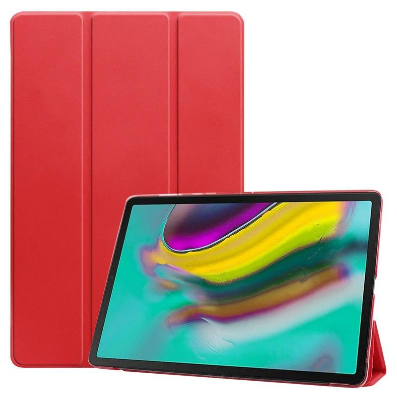 Tableta Folio de cuero para Coque Samsung Tab S5e 10,5 2019 carcasa trasera transparente para Samsung Galaxy Tap S 5E 2019 funda T720 T750