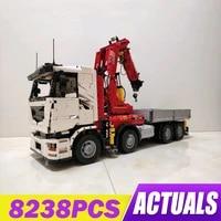 mould king high tech car series the moc 8800 rc pneumatic crane truck car model building blocks bricks toys kids christmas gifts