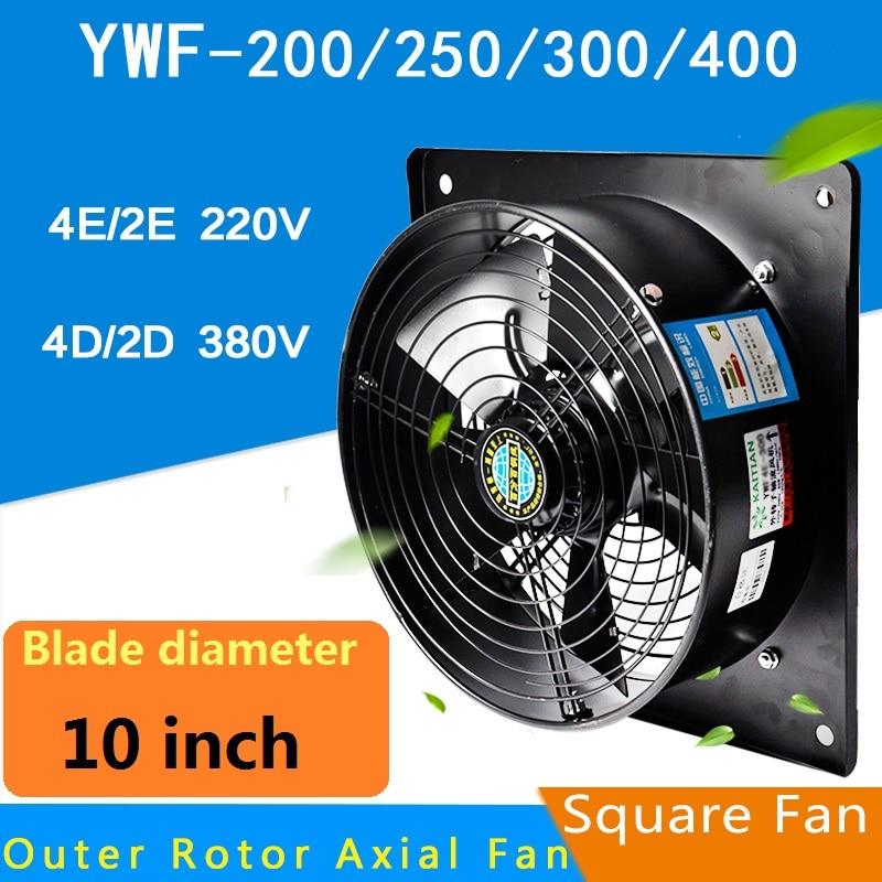 axial fan 150flj3 fan ac centrifugal fan 220v 10inch 220V 60/100W Square Outer Rotor Axial Fan Industrial fan Suitable for Workshops, Warehouses, etc