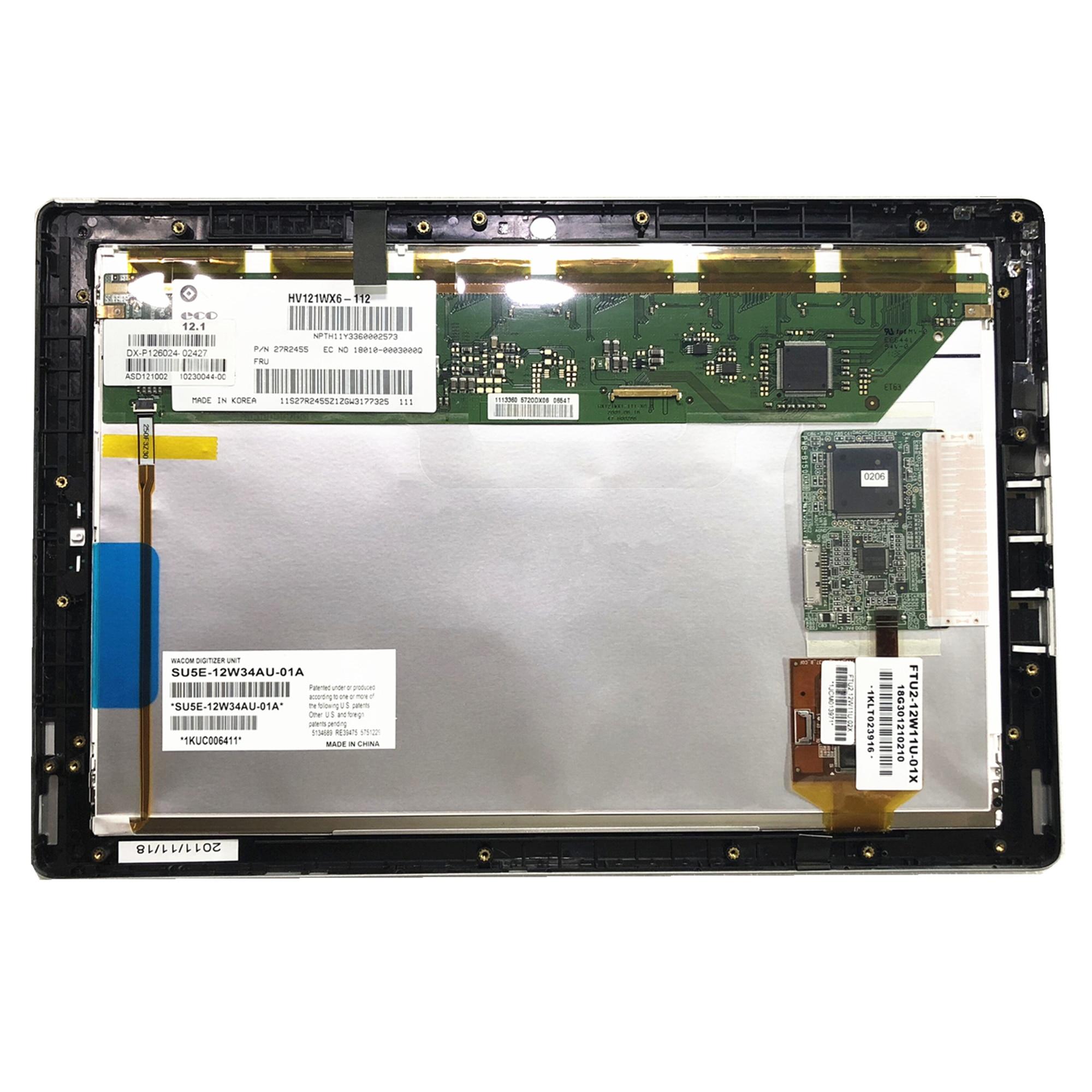 Envío Gratis HV121WX6-112 portátil Lcd pantalla para Asus Eee pizarra EP121 digitalizador de pantalla táctil LCD ASAMBLEA DE