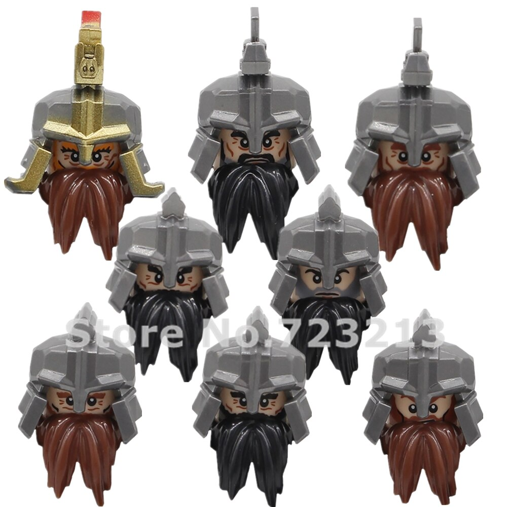 KT1040 Dain II Ironfoot 그림 머리 durin의 민속 난쟁이 전사 Cheif 군인 철 언덕 Erebor 육군 빌딩 블록 벽돌 장난감