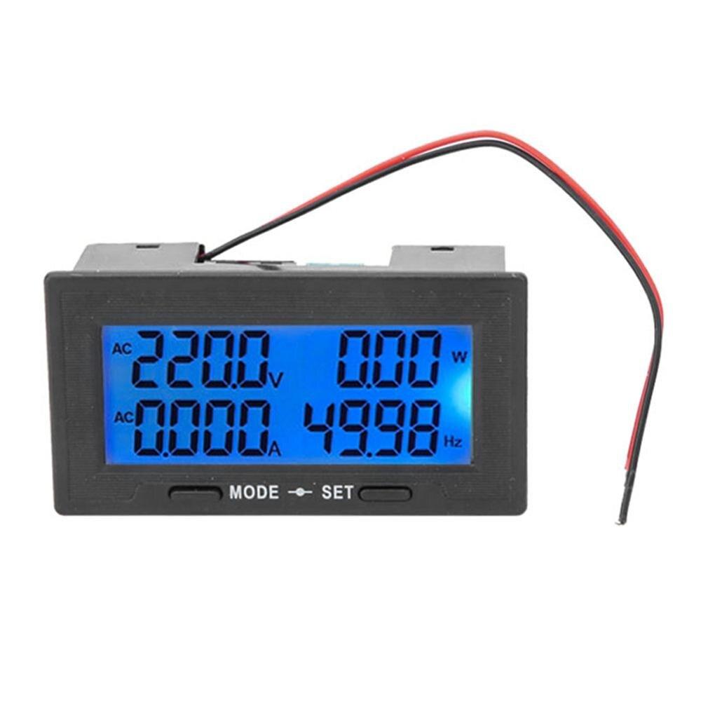 YB5142DM 0-500V pantalla LCD Digital inteligente voltaje de CA medidor de energía medidor de potencia adaptador DC8V-18V