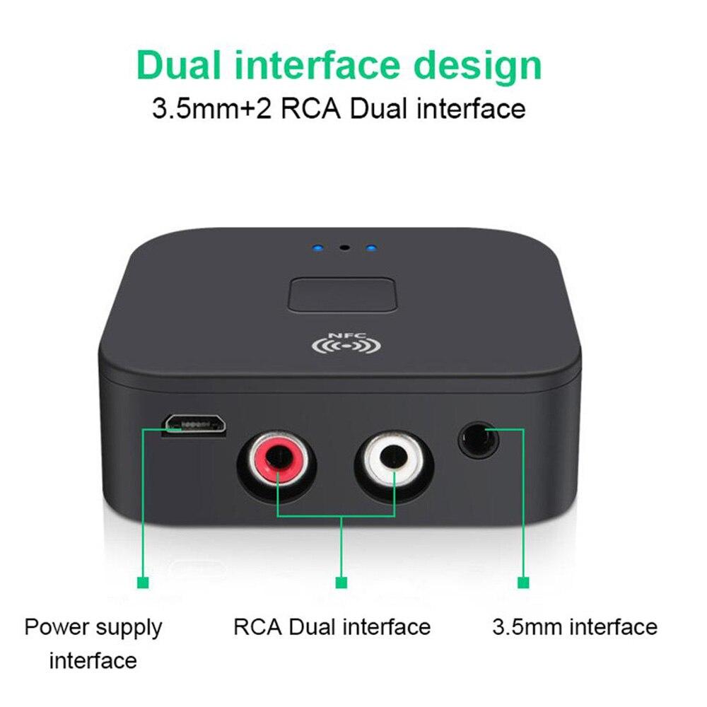 WB11 5.0 Ontvanger Draadloze Audio-ontvanger Adapter APT-X Nfc CVC6.0 Microfoon Aux Out Voor Hoofdtelefoon Luidspreker Auto Stereo Thuis
