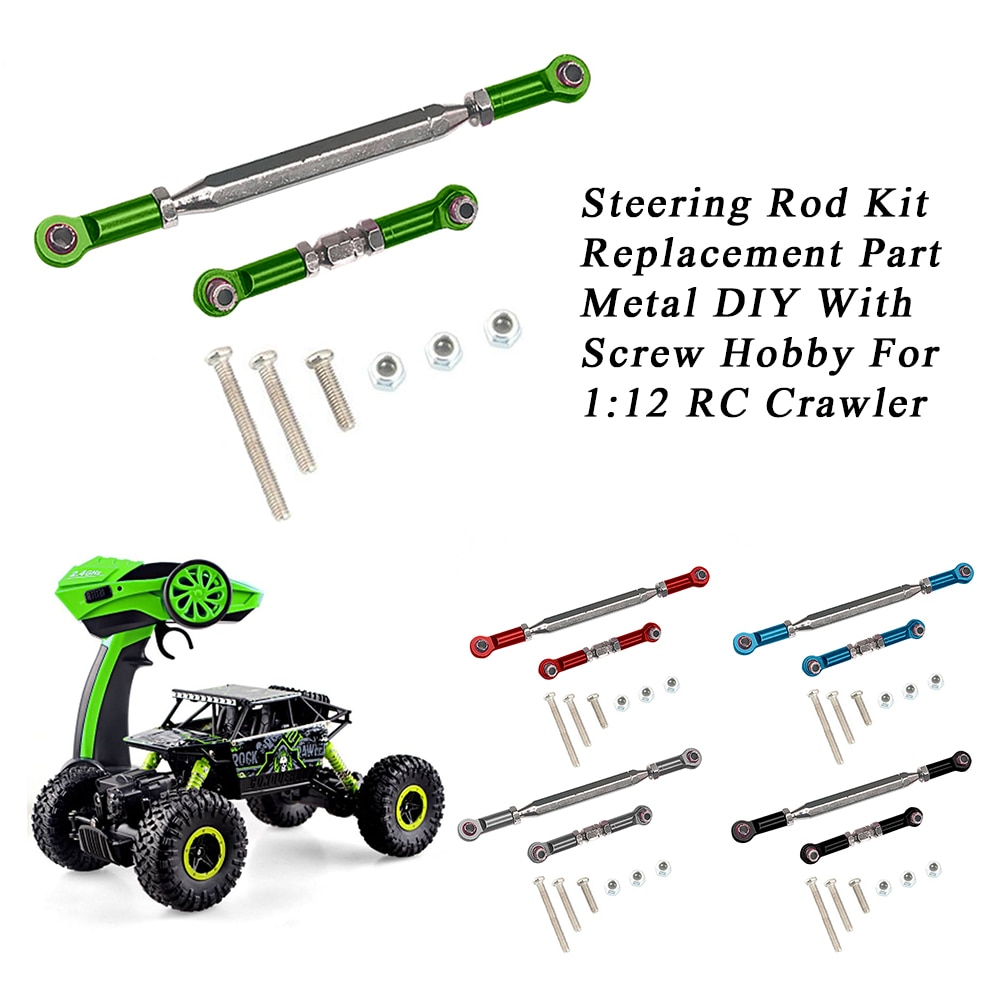Steering Rod Kit Toy Easy Install Durable Model Kids Hobby DIY Boys Metal Replacement Part With Scre
