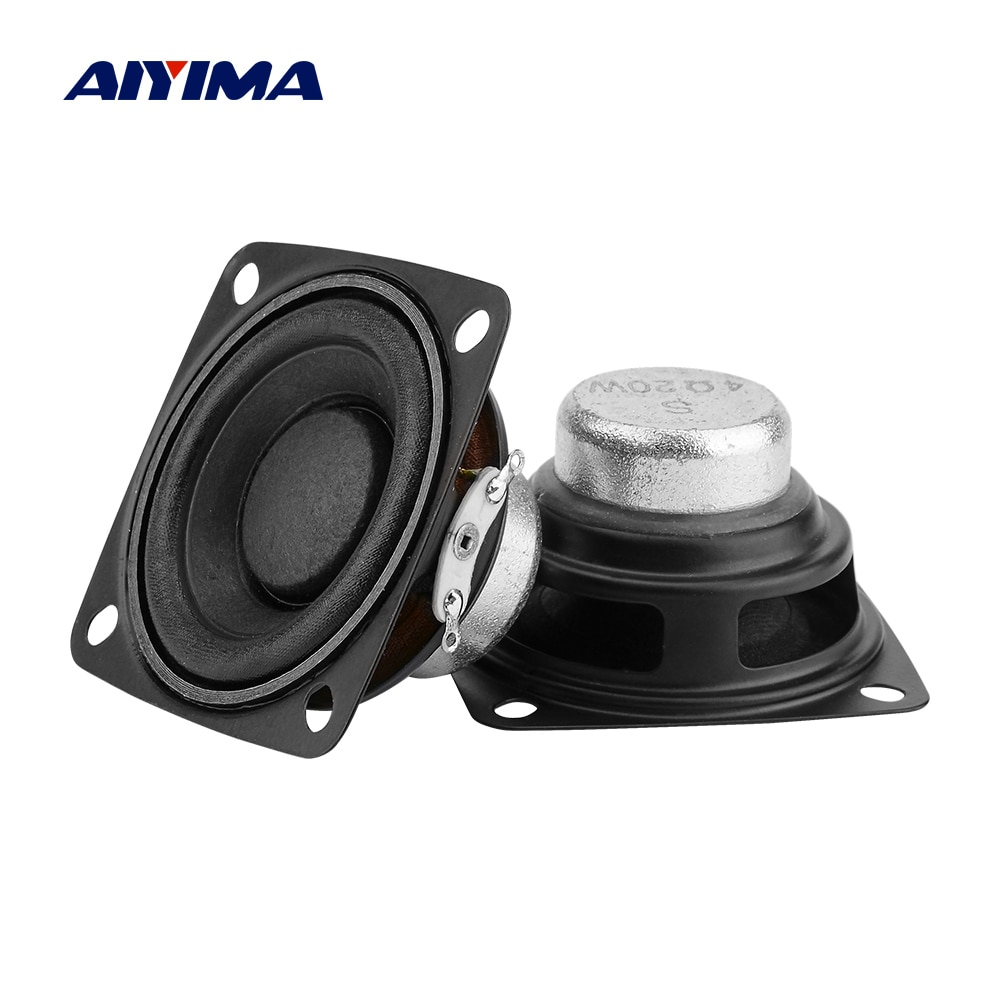 AIYIMA 2Pcs 2 Polegada Full Range Speaker Driver 4 Ohm Rádio Amplificador de Som Altifalante 10W 15W 20W DIY HIFI Bluetooth Speaker