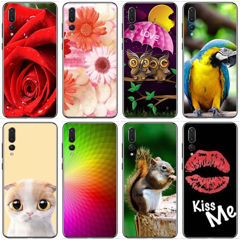 for Huawei P20 Pro Case 6.1inch Huawei P20 Plus Soft Rubber TPU Silicone Back Phone Case For Huawei