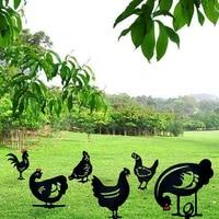 chicken garden decoration chicken yard art hen decoration for garden backyard lawn stakes plastic hen yard decor gift support