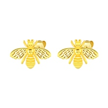 Silver 925 Jewelry Earrings For Women Bee Stud Earrings Gold/Silver Jewelry 2021 Trend Piercing Bijo