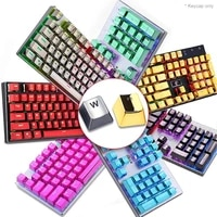 pbt english languag104 keyscaps keys variety of color choices for cherry mx mechanical keyboard key cap switches key cap