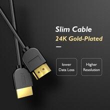 Кабель PCER HDMI ультратонкий позолоченный 4K 3840*2160P Разрешение Кабель HDMI 1,5 м 3 м 5 м Hdmi шнур Ultra HD 3D изображение