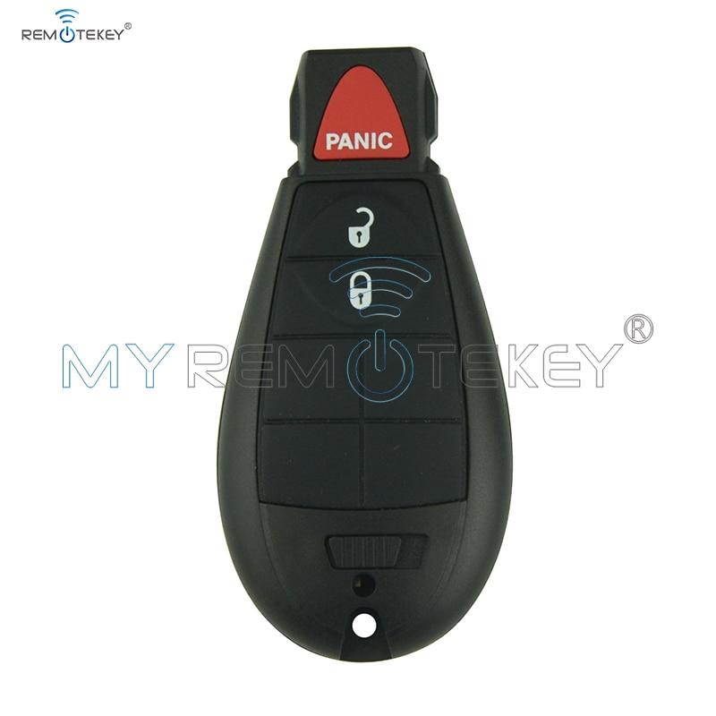 Tecla remota inteligente fobik para 2008, 2009, 2010, 2011, 2012, 300 y 434 de Chrysler Town & Country, 2 botones con control de pánico, remtekey de mhz #0 IYZ-C01C