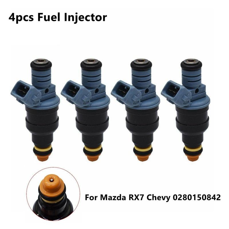 Nuevo inyector de combustible de 4 Uds., 1600cc, 152lb/hr, compatible con Mazda RX7 Chevy 0280150842