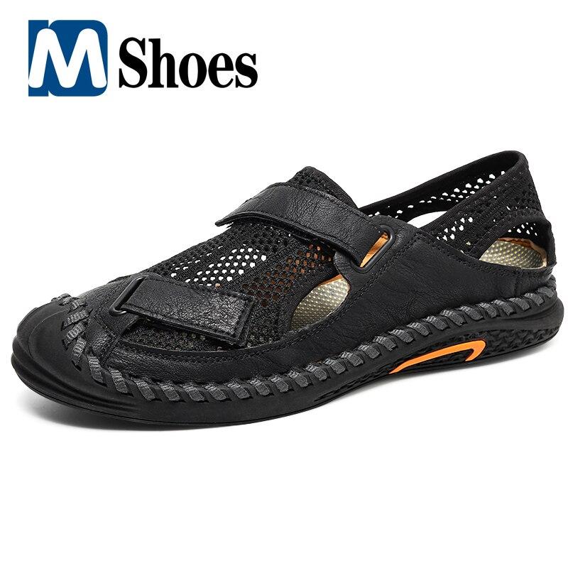 summer men sandals breathable beach shoes hook Summer Men's Sandals Men Beach Sandals Breathable Mesh Casual Shoes Hiking Sandals Designer Sandals Outdoor Wading Men Sneakers