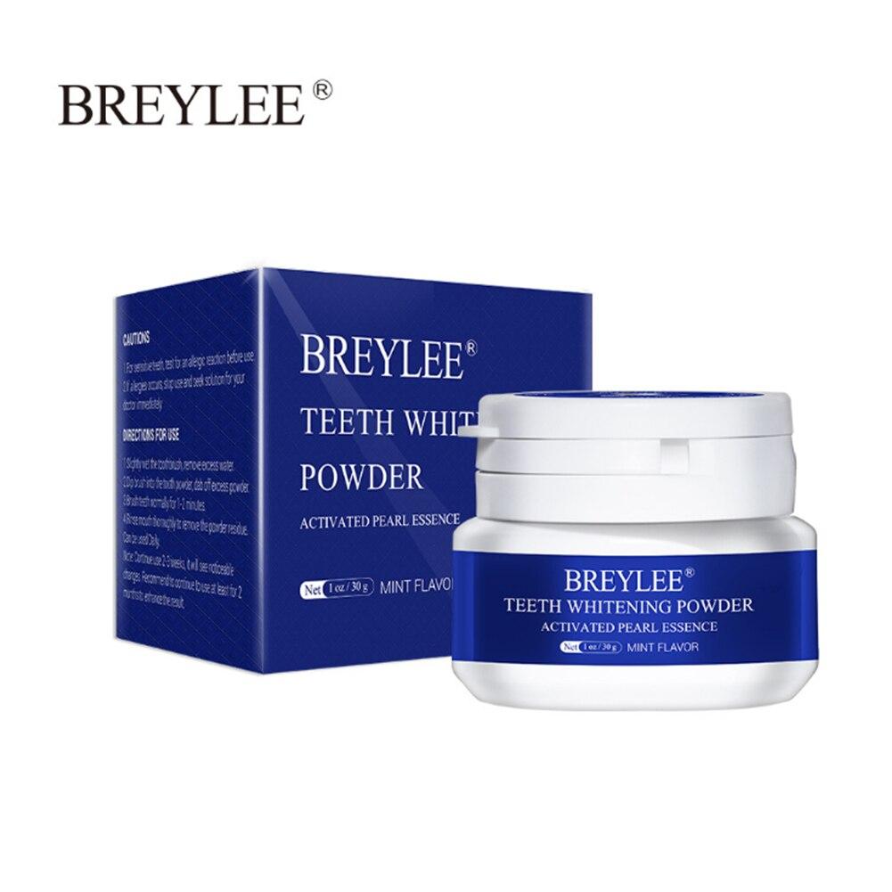 Отбеливающий порошок для зубов BREYLEE, удаление пятен от зубного налета, зубная паста, стоматологические инструменты, белая чистка зубов, фото...