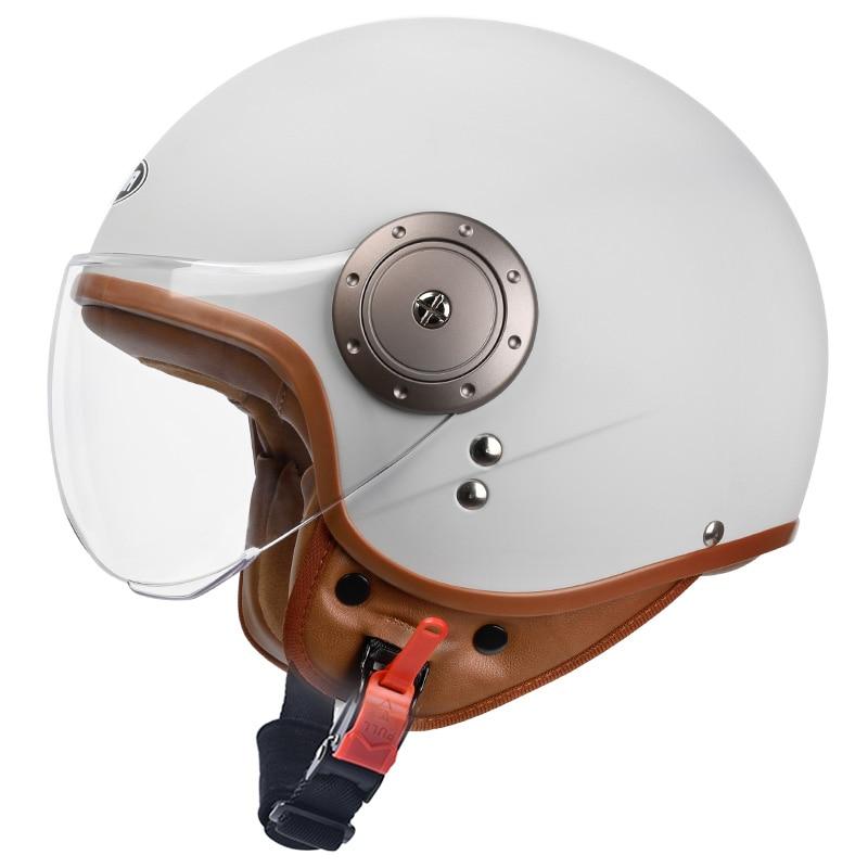 Motorcycle helmet jet Vintage helmet Open face retro 3/4 half helmet