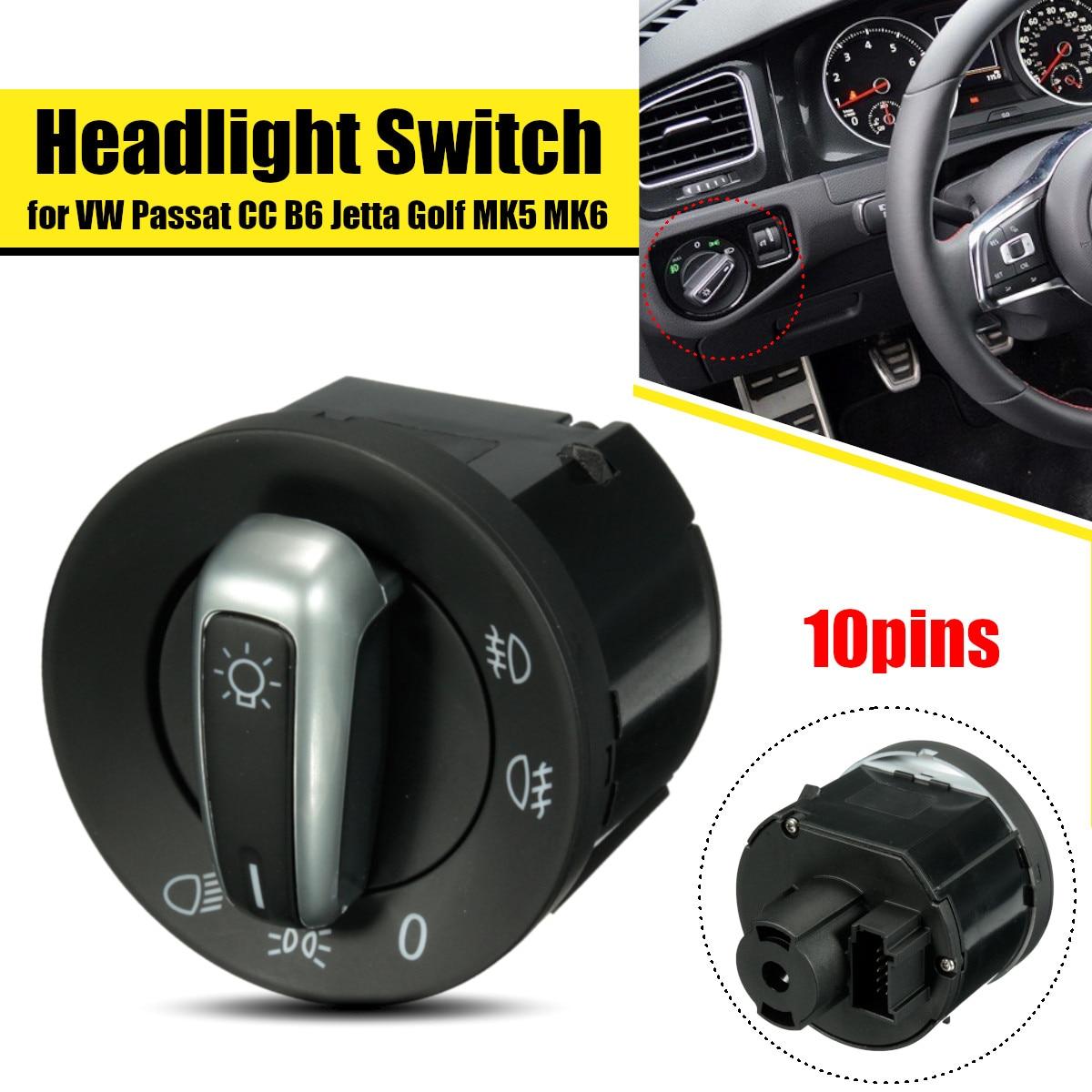 Interruptor del faro del coche interruptor de la lámpara antiniebla 5ND941431A para VW Golf/Jetta 5 6 GTI MK5 MK6/Passat b6 Touran Tiguan