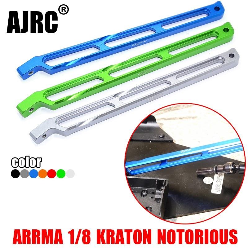 Arrma 1/8 kraton outcast/notório 6s liga de alumínio suporte traseiro haste ARRMA-AR320446