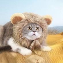 Pet Hat Cat Lion Cosplay Costume Adjustable Mane Wig Cap With Ears Pet Apparel Cosplay Supplies Pet
