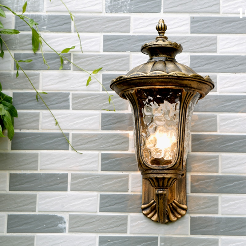Retro outdoor waterproof antirust E27 wall lamp garden gateway sconce courtyard corridor villa residential balcony lights Wall enlarge