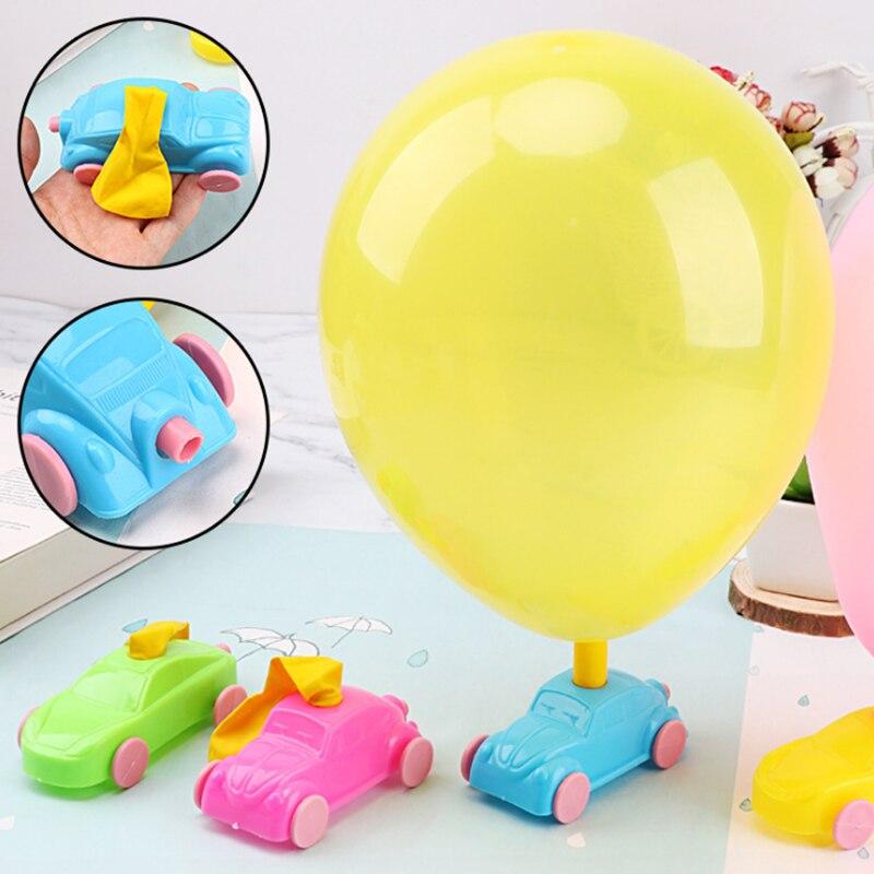 5 sztuk/zestaw DIY balon samochód śmieszne zabawki dzieci eksperyment naukowy sprzęt edukacyjny balon odrzutu samochodu zabawki dla dzieci
