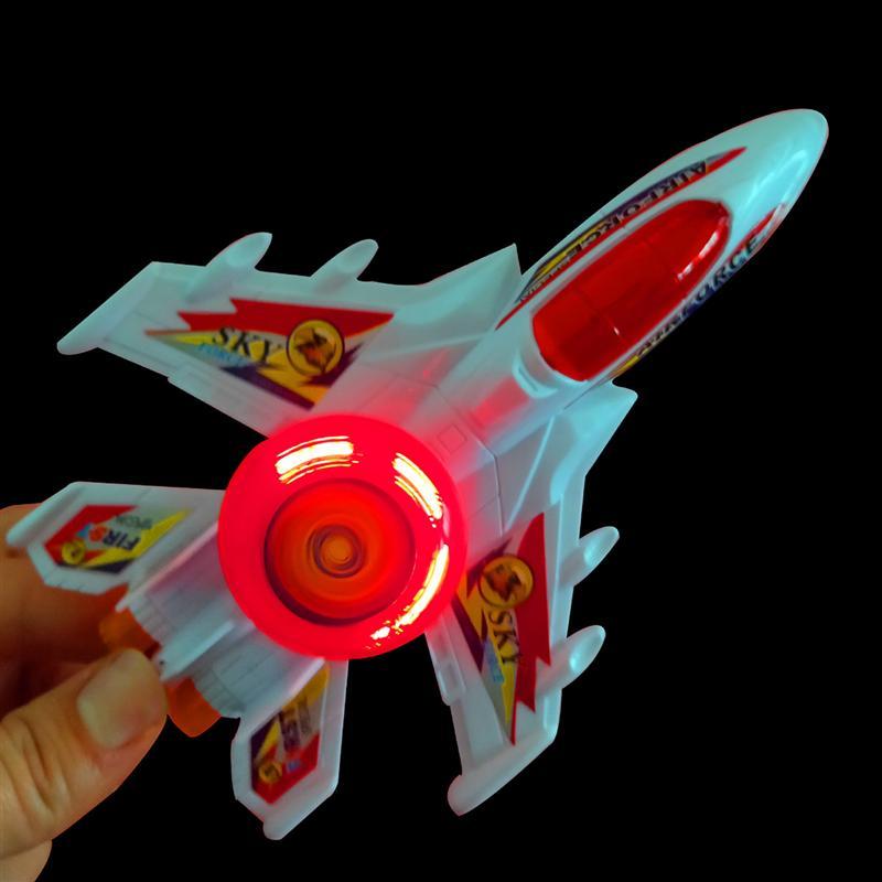 4PCS Plastic Plane Models Pulling String Airplane Luminous Plane Toy Creative Gift for Kids Random Color toys for children