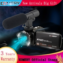 KOMERY Neuheiten Video Kamera Camcorder 3,0 zoll IPS HD Touch Screen Echt 1080P Original Digital Kameras und Video recorder
