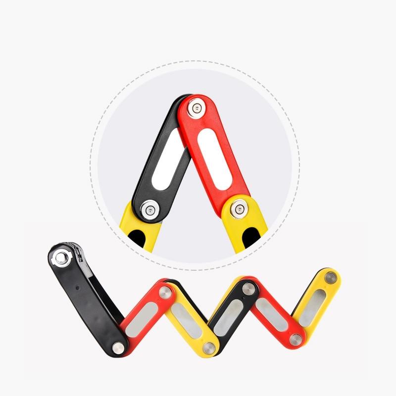 Candado de bicicleta con combinación de 4 dígitos, candado de acero plegable para bicicletas, candado de seguridad antirrobo para bicicletas, candados de acero