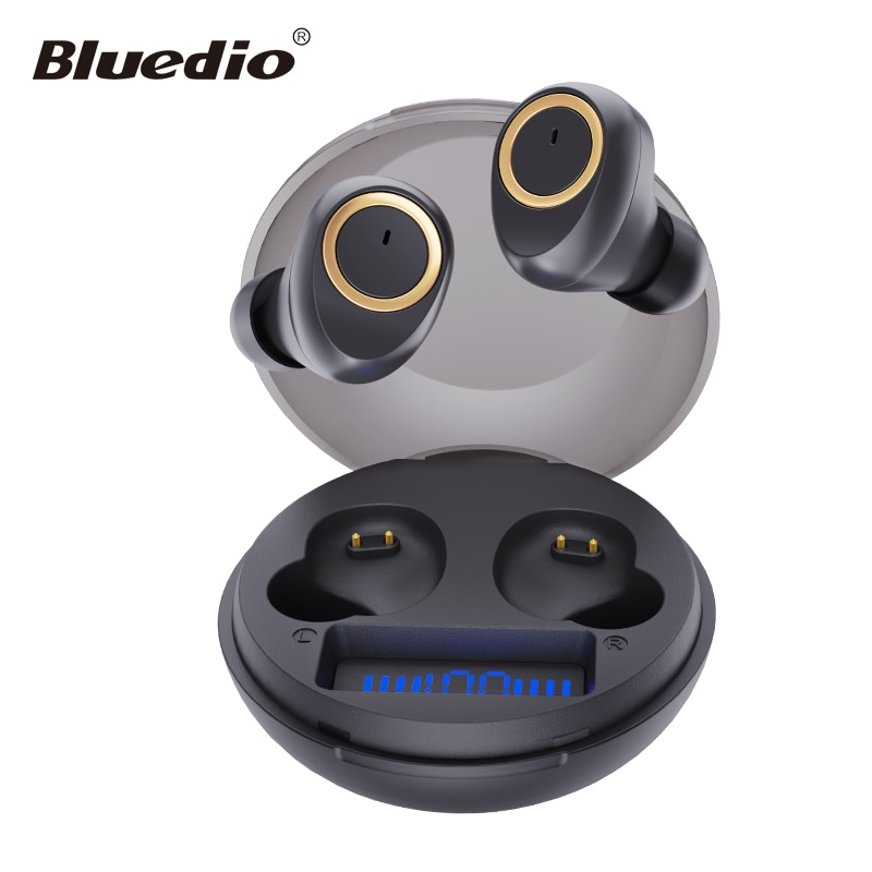 Bluedio D3 wireless earphone portable tws earbuds touch control bluetooth 5.1 in ear headset with charging case battery display