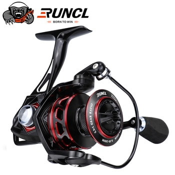 RUNCL Fishing Spinning Reel 20KG Max Drag 5.1:1 Titan II Fishing Reel Salt Water Resistance Power Fishing Reel for Bass Pike