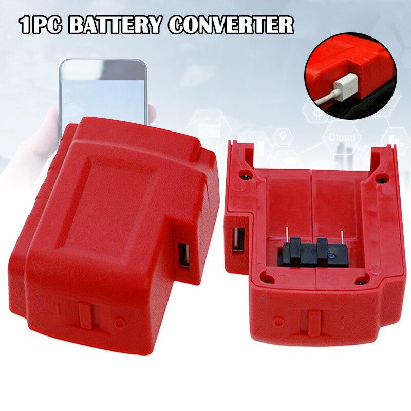 Puertos USB cargador de batería Adaptador convertidor accesorios portátiles para Milwaukee M18 BJStore
