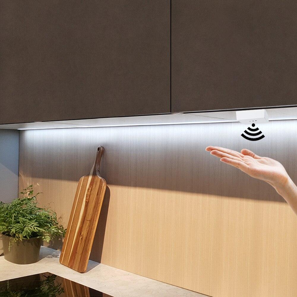 Ручной датчик развертки 1/2/3/4/5 м светодиодные ленты шкаф кухонная мебель для шкафа датчик движения Умный Свет домашний декор для спальни ночник