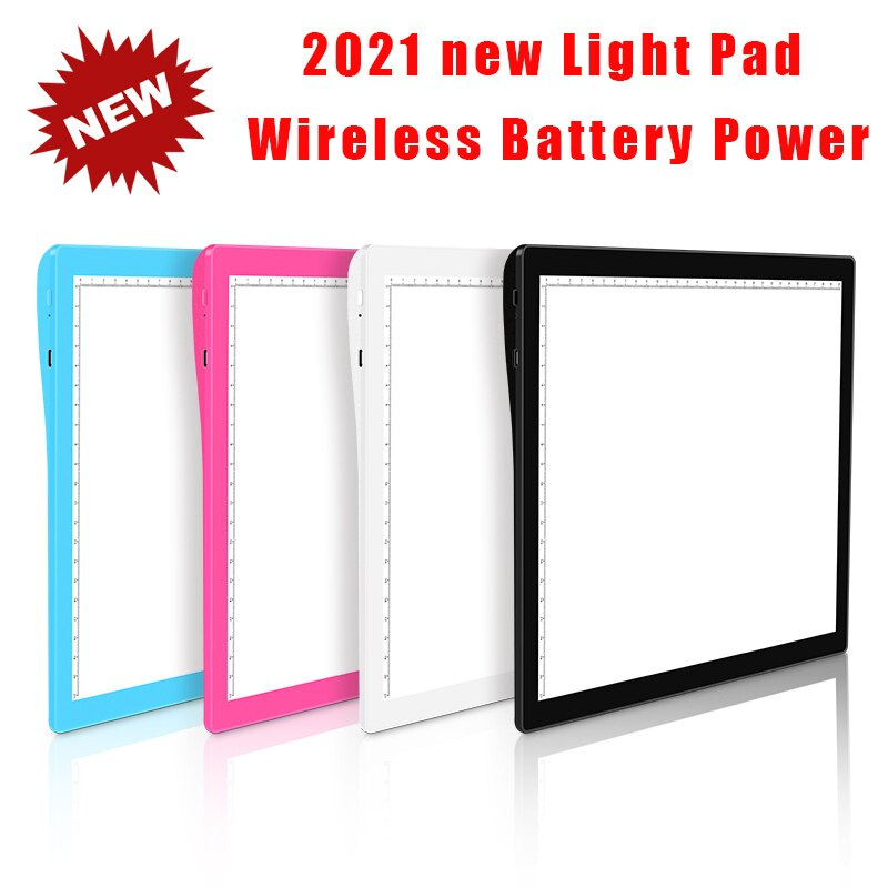 A4 Wireless Battery Powered LED Light Pad Artcraft Tracing Pad Rechargeable Light Board for Artists Drawing  X-ray Viewing