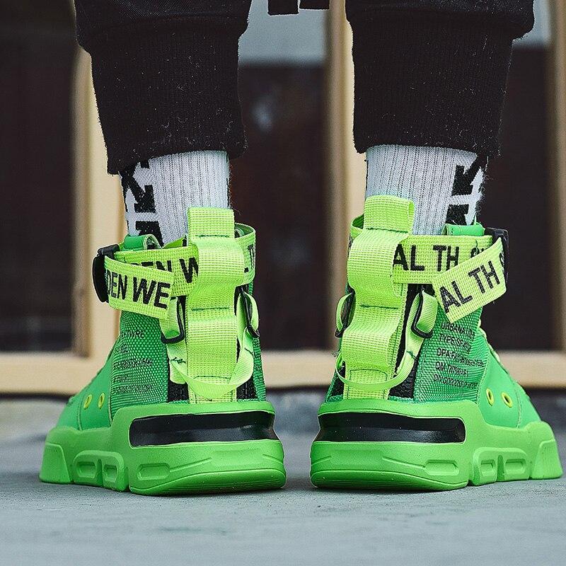 KLYWOO – baskets montantes pour hommes, chaussures de course décontractées, Hip Hop, à la mode, Gym, Jogging, grande taille 45, livraison directe