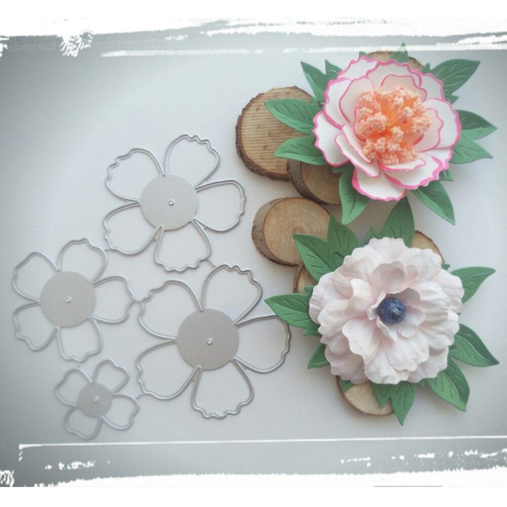 Шаблон для высечки красивых цветов, шаблон для рукоделия, скрапбукинга, резки металла, бумаги, карты, тиснения, папка, шаблон-4297