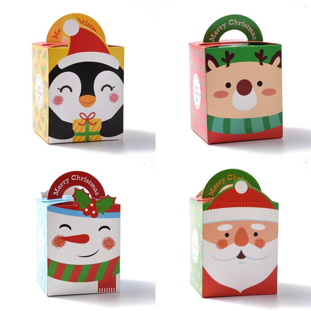 50-коробок-бумажные-подарочные-коробки-снеговик-Санта-милые-стили-товары-для-рождевечерние