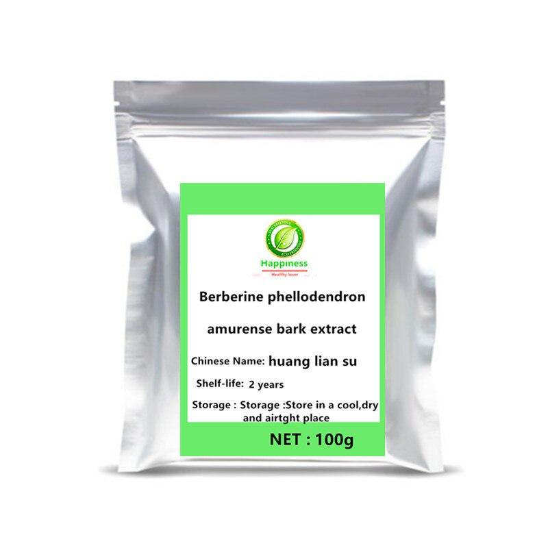 2021 Hot sale 99% Pure Berberine Powder Coptis Chinensis Berberine berberine HCL Extract Controls Blood Sugar supplement body .