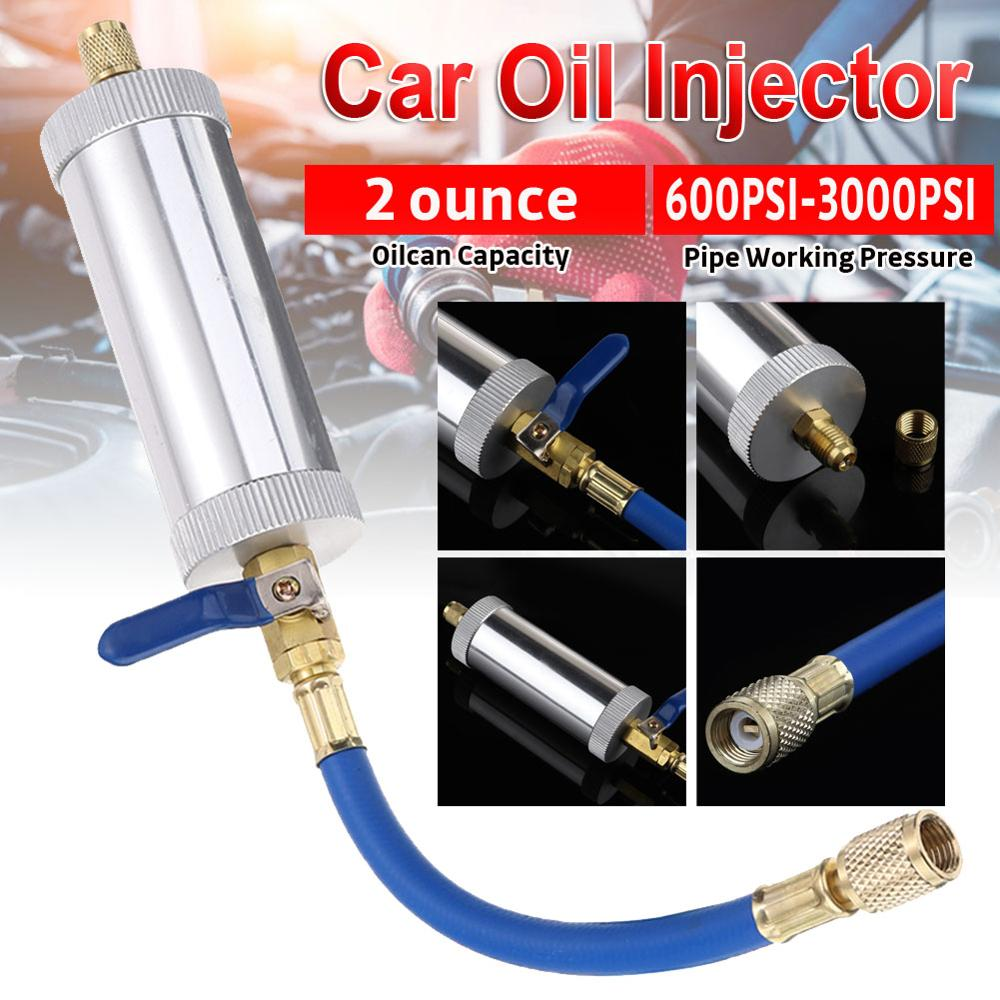 AliExpress - OLOMM Air Conditioning Car Oil Injection Dye Injection Tool 2 Ounce 1/4″ Pure Liquid Oil Coolant Filler Tube Car Accessories