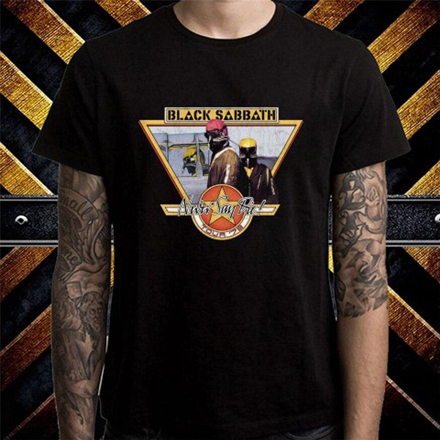 Negro Sabbath nunca decir Die Tour 78 hombres negro Camiseta talla S a 3Xl moda estilo clásico camiseta