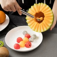 304 stainless steel dual purpose fruit carving knife fruit spoon digging watermelon ball spoon watermelon spoon