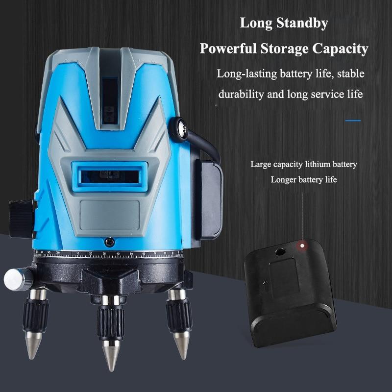 Instrumento de Nível Útil da Bateria Laser Super Forte Verde 2 – 3 5 Linha Alta Precisão Automático Nivelamento Ferramenta Medição Longa Vida Luz