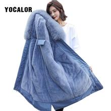 Winter Coat Faux Fur Coats Rabbit Fur Snow Wear Hood Overknee Down Cotton Thick Cotton-padded Loose Women Jackets Parka Ukraine