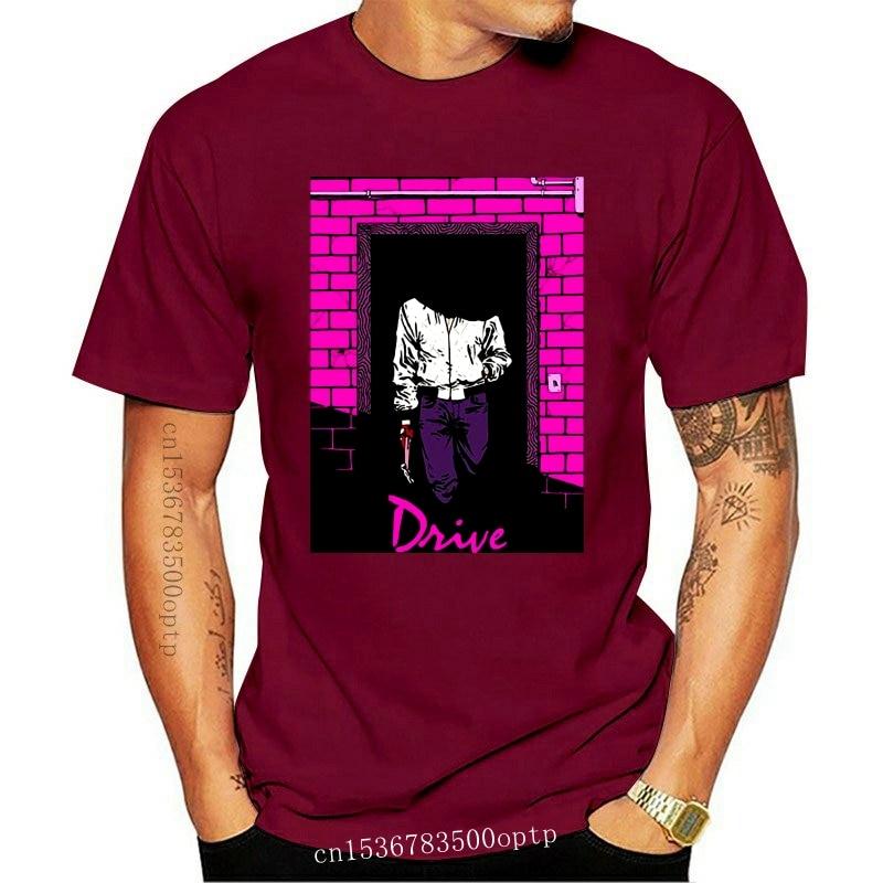 New Drive Movie Poster Ryan Gosling Mens T-Shirt Fitness Clothing T Shirts Homme 2021 Tee Shirt 100% Cotton T-Shirts Xxxxl