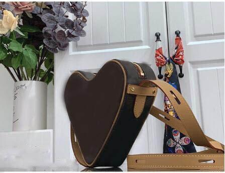2020 المرأة المحفظة وحقائب اليد والجلود الناعمة شكل الحب حقيبة سيدة الكتف قطري حقيبة عالية الجودة Fashional حقيبة كتف مفردة