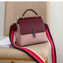 {Hot style}Female bag 2021 new imported luxury first layer cowhide bag fashion all-match handbag sho