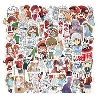 1050pcs cells at work code black anime stickers for children cartoon hataraku saibou sticker diy bicycle skateboard notebook