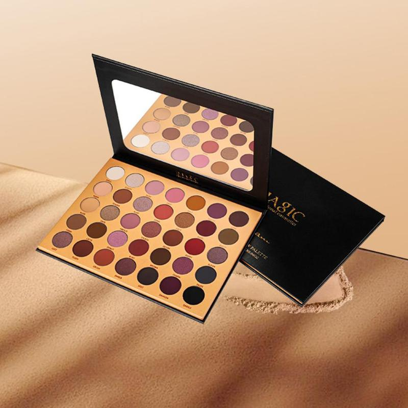 Paleta de maquillaje de ojos IMAGIC 35 colores moda Natural maquillaje sombra de ojos brillo mate sombra de ojos envío directo al por mayor