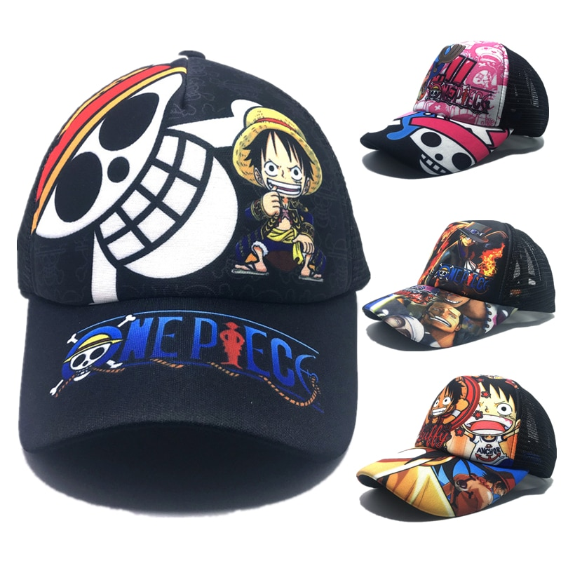 ONE PIECE Monkey D. Luffy Tony Tony Chopper Cosplay Print Sun Hats Baseball Cap недорого
