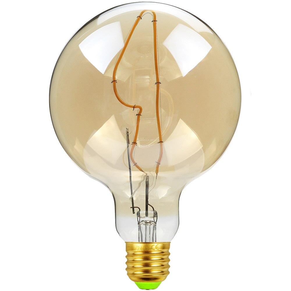 TIANFAN Led Bulb Vintage Light Bulb G125 Big Globe Knife Led 4W  Dimmable Pendant Hanging Table Lamp Decorative Bulb 110V 220V